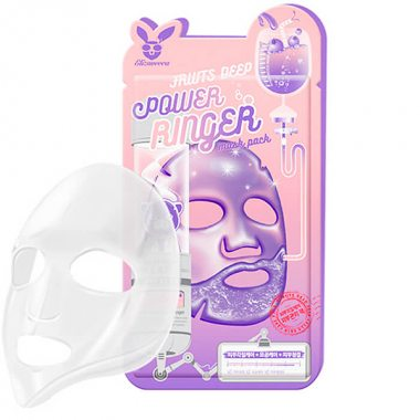 Изображение Маска для лица тканевая тонизирующая (Elizavecca Fruits Deep Power Ringer Mask Pack) – 23 мл