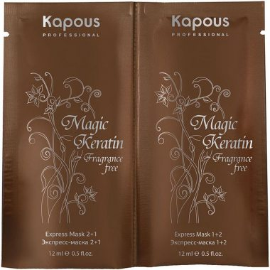 Изображение Экспресс-маска с кератином для восстановления волос (Kapous Magic Keratin Express Mask) – 2 шт. по 12 мл