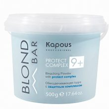 Обесцвечивающая пудра для волос (Kapous Professional «Blond Bar» Bleaching Powder Protect Complex 9+) – 500 грамм
