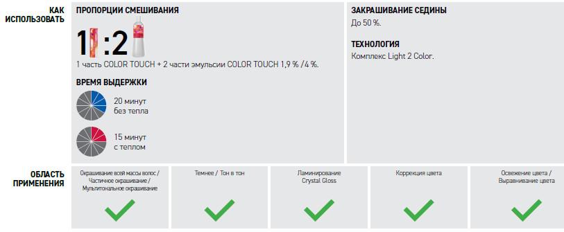 Wella Color Touch инструкция